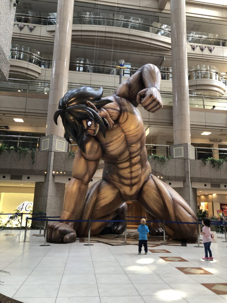 進撃の巨人。エレンが横浜に