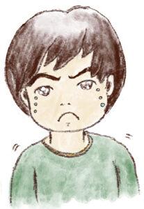 息子。泣き